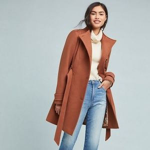 NEW Anthropologie Shania Belted Pea Coat Trench